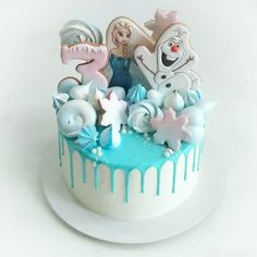 Frozen Birthday Theme, 4th Birthday Cakes, Fondant Cakes, Cupcake Cakes, Frozen Cake Pops, Confirmation Cakes, Elsa Cakes, Colorful Cakes, Bakery Cakes