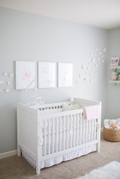 Soft and feminine nursery inspiration #nursery #nurserydecor https://www.mrsjonessoapbox.com/