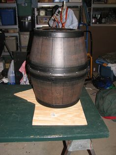 pirate barrel diy out of 2 plastic planters