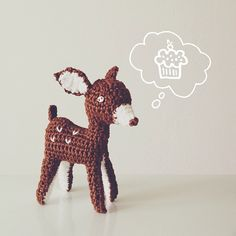 Mingky Tinky Tiger + the Biddle Diddle Dee Crochet Taxidermy, Crochet Deer, Crochet Animals, Crochet Crafts, Crochet Dolls, Yarn Crafts, Crocheted Toys, Deer Pattern, Cute Little Things