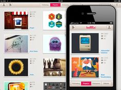 """Sweet, new dribbble app. What's your Dribbble account? Ours """"petshopbox"""""""