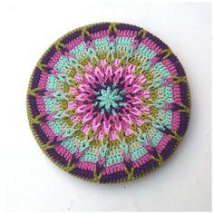 So beautiful! Tutorial Crochet Mandala Pot Coaster  www.facebook.com/pages/Attys/285033854868633