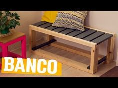 Banco madeira para mesa da sala