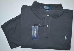 New 4XB 4XL BIG 4X POLO RALPH LAUREN Mens short sleeve shirt dark gray top XXXXL