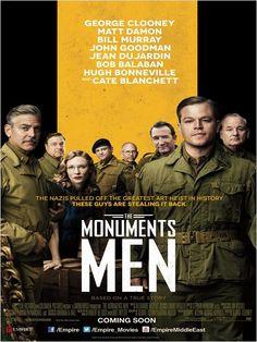 Monuments Men (2014). Dir: George Clooney. A finales de la II Guerra Mundial, un grupo de historiadores, directores de museos y expertos en arte tiene la misión de rescatar las obras robadas por los nazis y devolvérselas a sus legítimos dueños. Basada en la novela homónima de Robert M. Edsel y en hechos reales. En #BibUpo http://athenea.upo.es/record=b1693590