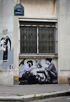 Relogement (2014) Charles Leval dit Levalet Rue Barrault Paris 75013