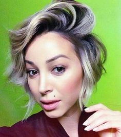 Ash blonde ombre, short Hair Colorful, Curly Hair Styles, Natural Hair Styles, 2015 Hairstyles, Blonde Hairstyles, Female Hairstyles, Dream Hair, Love Hair, Hair Dos