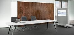 CONFERENCE TABLE - Designer Contract tables from Holzmedia ✓ all information ✓ high-resolution images ✓ CADs ✓ catalogues ✓ contact. Conference Table, Office Interiors, Furniture Design, Home Decor, Simple, Decoration Home, Room Decor, Home Interior Design, Home Decoration