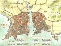 Fantasy renaissance city map by LingonB on DeviantArt