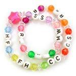 Girls will love this brightly colored wrap bracelet made from beads that represent the Girl Scout Law.     This fashionable bracelet will help Girl Scouts learn the Girl Scout Law. Alphabet beads are used to represent the initials and help the girls remember the words. The beads on this bracelet are strung on stretch cord. When completed, the bracelet will wrap twice around the wrist and become a pretty bracelet that will also help the girls memorize the Girl Scout Law.
