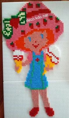 Strawberry Shortcake hama perler beads by deco.kdo.nat