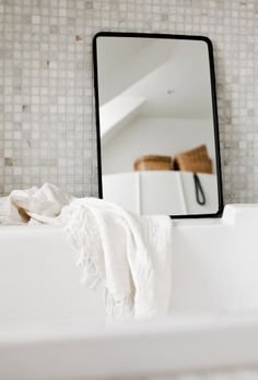 a mirror in the bathroom (styling and photo by Daniella Witte)