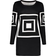 Geometric Pattern Sweater Dress (1.585 RUB) ❤ liked on Polyvore featuring dresses, sweater dress, geo dress, geometric dresses, geometric design dresses and geo print dress