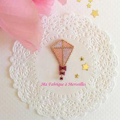 """Broche """"Le Cerf-Volant de Mary"""" en perles Miyuki"""