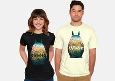 Cool T-Shirt for Women and Men My Neighbor Totoro