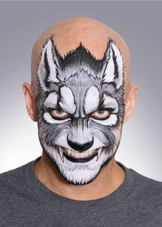 Image result for werewolf face paint adult