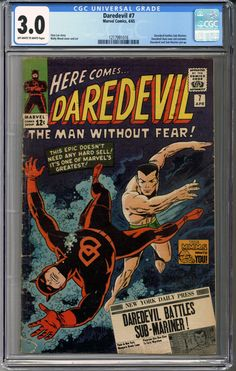 Newly in: Daredevil #7  CGC... #comics    http://coloradocomics.com/products/daredevil-7-cgc-3-0?utm_campaign=social_autopilot&utm_source=pin&utm_medium=pin