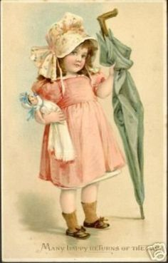 Little Girl with Umbrella & Doll (11/23/2007)