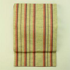 Zentsu, kyou fukuro obi / 普段使いに 茶系 縞柄 全通柄 の京袋帯