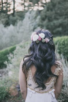flower crown | Photo by Edyta Szyszlo Photography | Read more - http://www.100layercake.com/blog/?p=70192