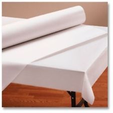"""Banquet White Paper Table Cover Roll 40"""" X 300'  Daycare, School, Parties & More"""