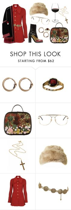 """""""Sem título #336"""" by gothic-girly ❤ liked on Polyvore featuring Acne Studios, Chanel, Miu Miu, Ray-Ban, Rock 'N Rose, Ted Baker, Topshop and MASSCOB"""