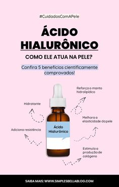 Do you know what exactly hyaluronic acid is and what it does to the skin? This acid is very important to maintain the natural hydration and collagen in the skin, which results in a firmer, hydra Beauty Care, Beauty Skin, Beauty Hacks, Beauty Tips, Face Care, Body Care, Diy Beauté, Yoga For Flexibility, Younger Looking Skin