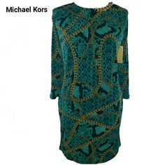 Michael Kors Deep Sea Green Shift Dress DETAILS WILL BE ADDED SOON PICS ARE MY OWN NOT STOCK PHOTOS Michael Kors Dresses