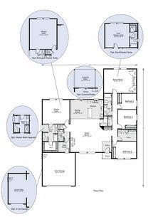 The St Helens Custom Home Floor Plan Adair Homes Bedroom