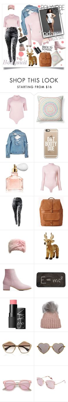 """Bodysuits for all"" by lseed87 ❤ liked on Polyvore featuring Boohoo, Xhilaration, High Heels Suicide, Casetify, Guerlain, Emilia Wickstead, Forever 21, Theory, NARS Cosmetics and Eugenia Kim"