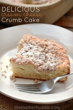 Cream Cheese Crumb Cake - by far one of the best cakes you'll ever make!
