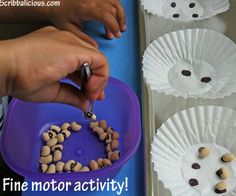 Counting dots and a fine motor activity for preschoolers