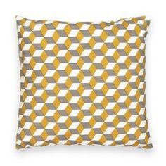 Decio Cotton Geometric Cushion Cover La Redoute Interieurs - Cushion Covers