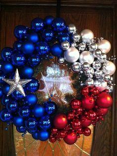 How we do a Christmas wreath in Texas @Mary Waller
