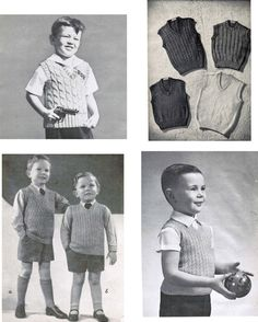 099be4adf Vintage Boy s Textured Vests Knitting Patterns PDF (set of 8)   Collection  of 8 Boy s sleeveless sweater patterns
