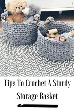 Get rid of the floppy crochet basket. Use the invisible round to keep your basket sides sturdy and upright. Plus tips to pick the right yarn and hook.