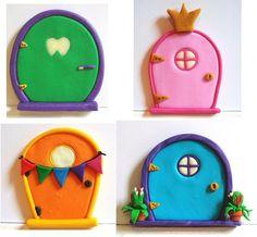 Custom Fairy Door- Made to Order- Polymer Clay- Tooth Fairy, Princess Door, Birthday, Housewarming