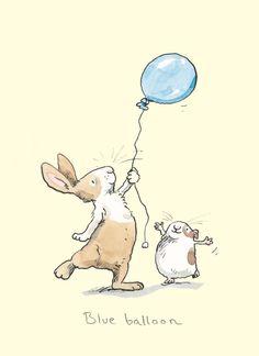 Blue Balloon - Petra Brown