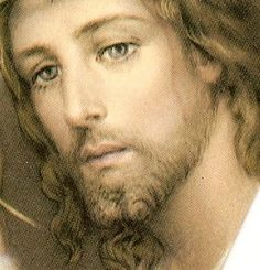 Beautiful face of Jesus.
