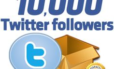 I will give you 10000 Twitter Followers