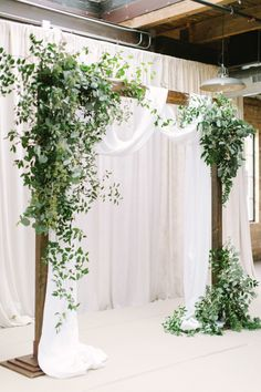 Greenery Ceremony Arch Minus The White Fabric