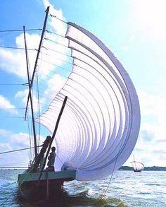 Replica of a traditional Japanese sailing vessel - hobiki bune