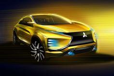 Mitsubishi eX Concept Design Sketch Render link: