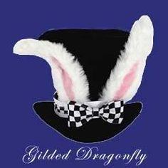 Alice in Wonderland WHITE RABBIT HAT Mad Hatter NEW