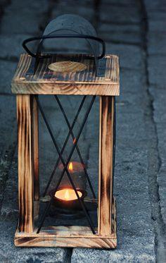 lampion z drewna zrób to sam