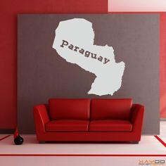 "Wandtattoo ""Paraguay"" - ab 9,95 € | Xaydo Folientechnik"