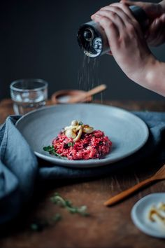 our FoodStories: beetroot risotto with mushrooms and truffle pecorino