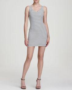 864acb3ed21b Aqua Textured Stripe Double Scoop Body-Con Dress Aqua