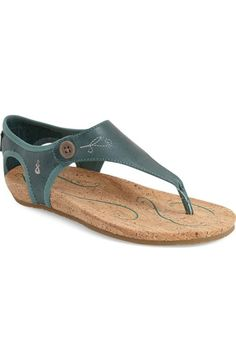 37d8ca13d765 Ahnu  Serena  Thong Sandal (Women) available at  Nordstrom Smooth Leather