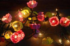 DIY Blossom Fairy Lights (from Egg Cartons)! DIY Garden